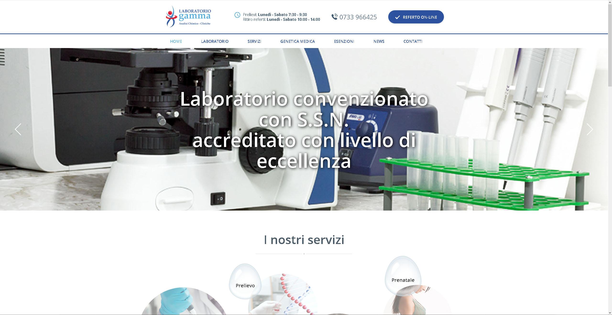 Siamo Online con il nuovo sito web laboratoriogamma.info